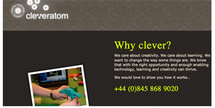 cleveratom web site design